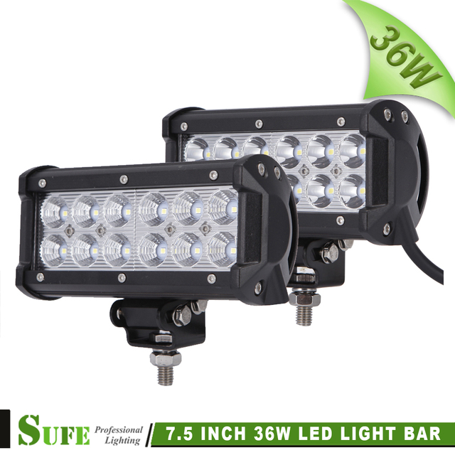 SUFE 2 PCS 12 pcs * 3 W 36 W LED Light Bar Off road Truck SUV 4WD 4X4 Driving Nevoeiro Trabalho Light Bar Auto DRL Faróis Da Motocicleta