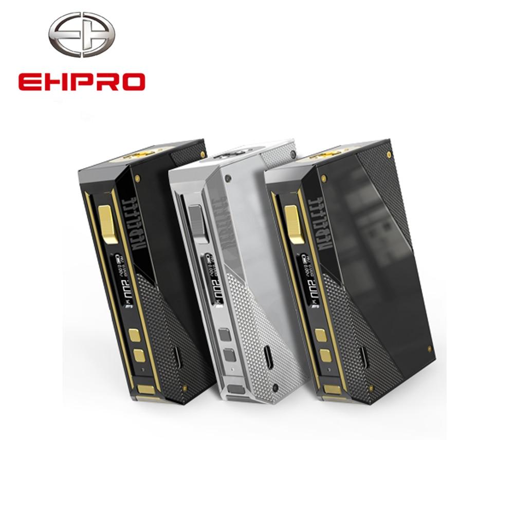 EHPRO acier froid 200 W boîte Mod Vape Cigarette électronique avec écran d'affichage batterie externe 18650 acier inoxydable TC mods Ecig
