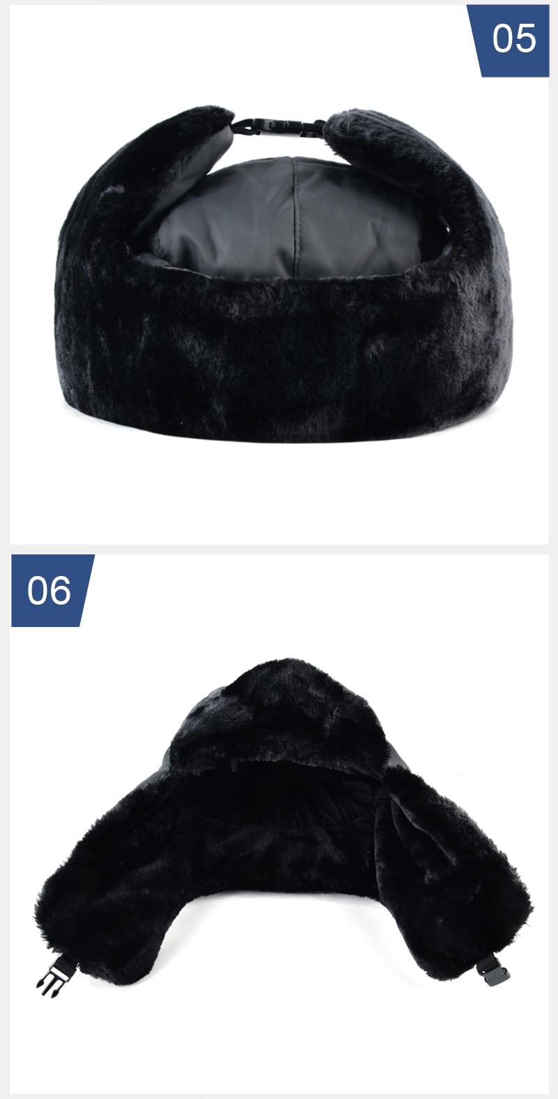 aa9b393c844 ... russian ushanka caps men. Style2   Winter hat bomber hats for men  thicken balaclava. 2 3 4 ...