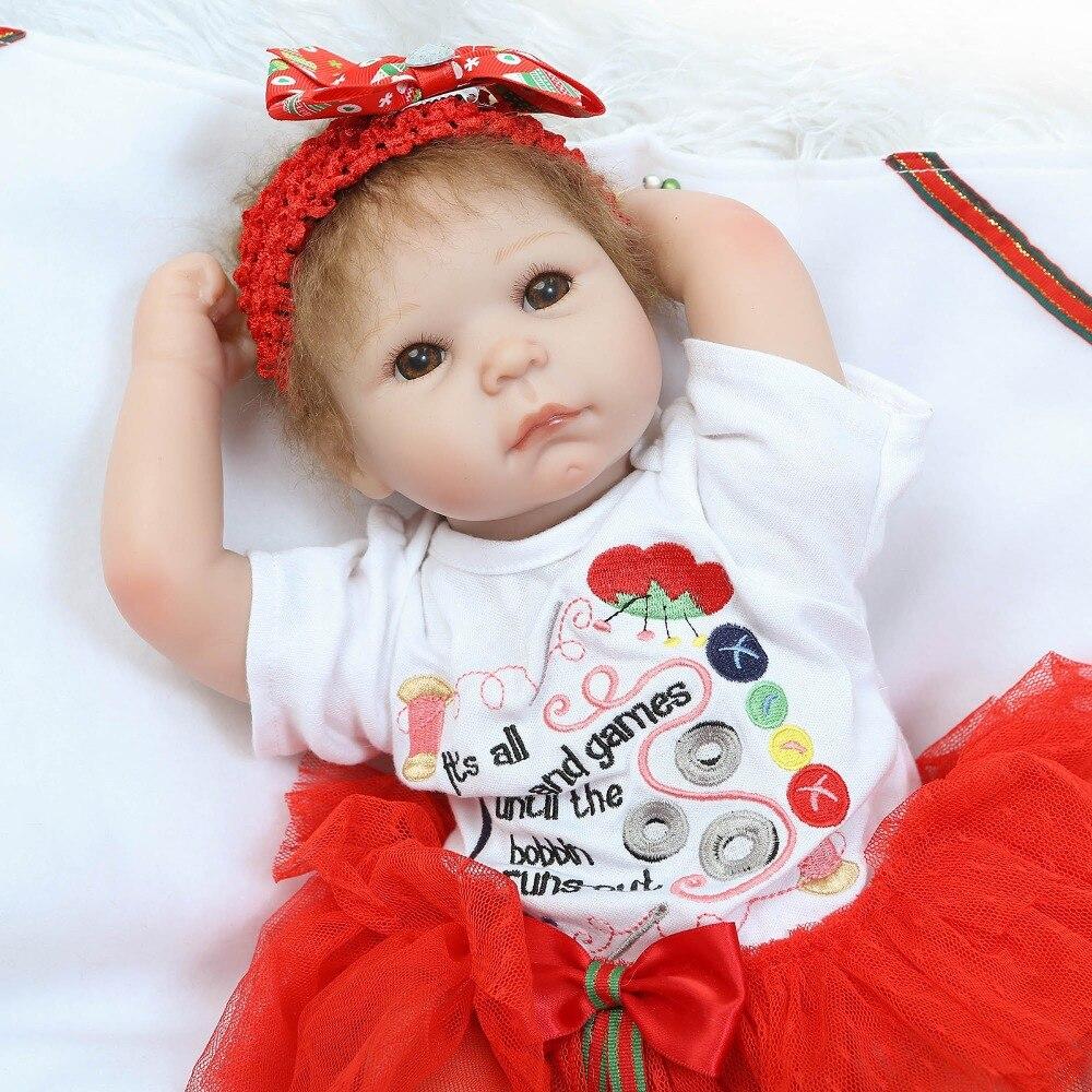 55 cm Silicone Reborn bébé poupée enfants cadeau d'anniversaire pour filles jouet poupées réel bebe vivant reborn bonecas brinquedos