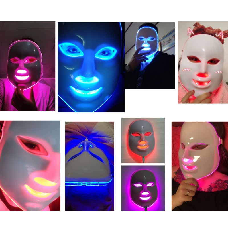 7 Colors LED Face Masks Wrinkle Acne Removal Tools Spa Therapy Photon Light Beauty Skin Care Instrument Home Use