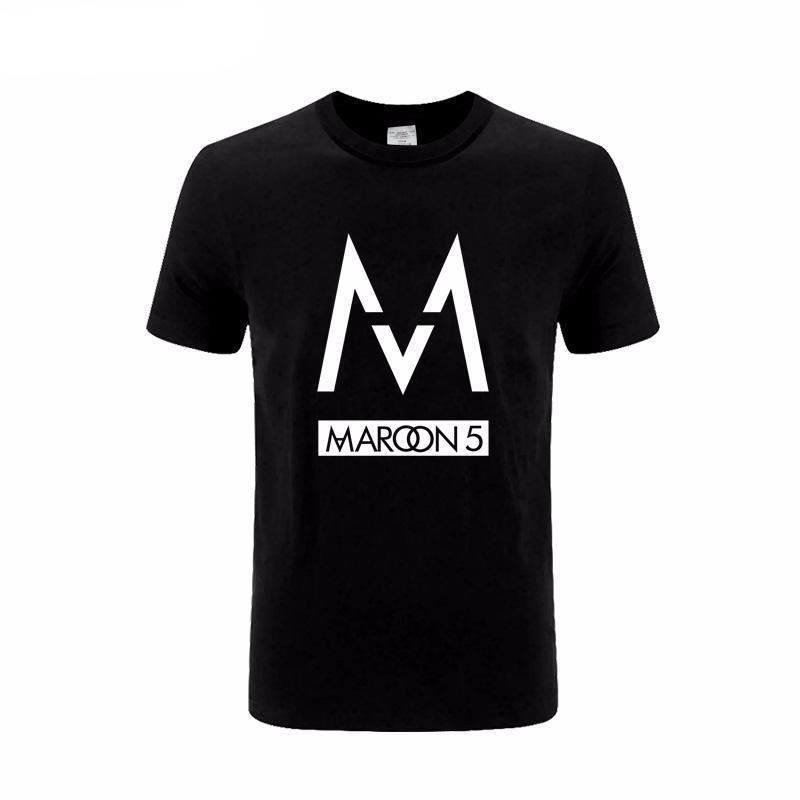 2018 mens t shirts fashion band Maroons 5 rock tshirt hip hop cotton tee shirts Summer O-Neck Tops