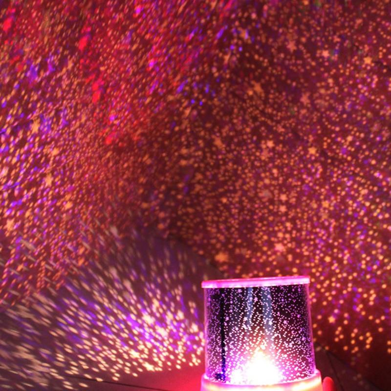 Romantic Night Light Star Master Projector Colourful Starry Light Lighting Projector Moon Light Christmas Gift for Kid Lover