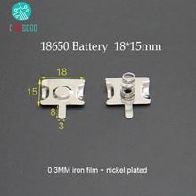 10 pares 18650 contatos da bateria mola contato faixa placa 18*15mm conector eletrodo positivo negativo para caixa/banco de potência