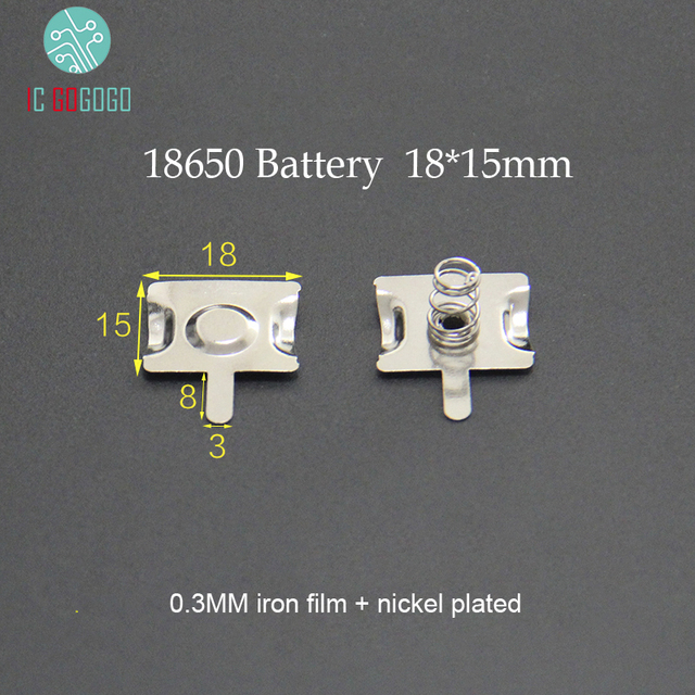 10Pairs 18650 Battery Contacts Spring Contact Band Plate 18*15MM  Connector Positive Electrode Negative for Box/Power Bank