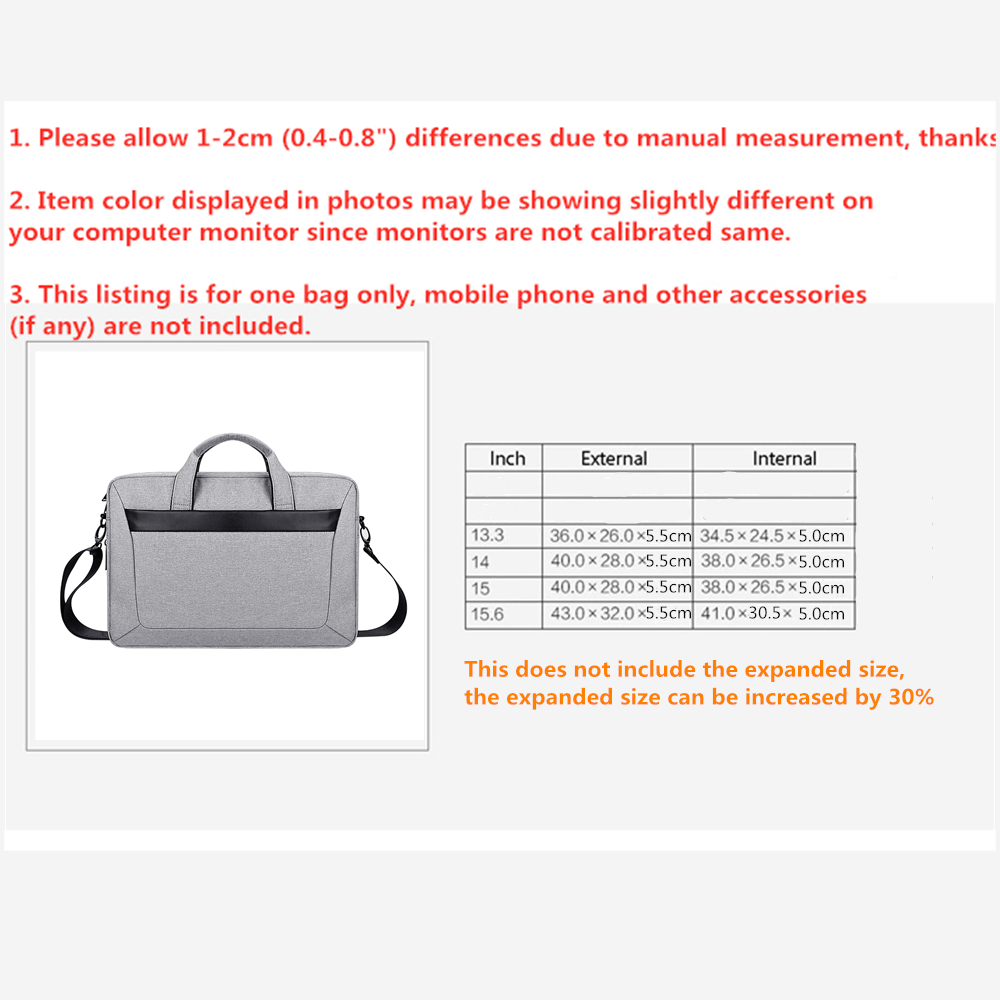 Image 5 - Should Strap Sleeve Case For Laptop 13 14 15 15.6 inch,Bag For Macbook Air Pro 13.3 15.4 Briefcase Handbag for Dell HP Samsung-in Laptop Bags & Cases from Computer & Office