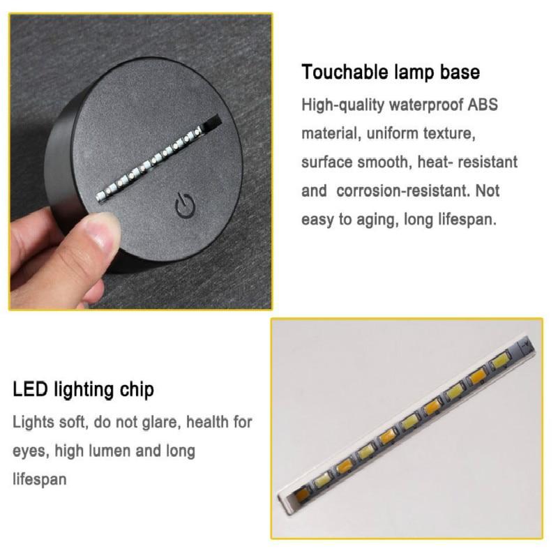 quarto lampada de mesa lampada led criativo 05