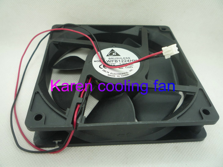 DELTA 12CM WFB1224HH 12025 24V 0.32A 2WIRE cooling