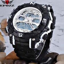 Новый 2014 Бесплатная Доставка Часы Мужчины Спортивные Водонепроницаемые Дата Тревоги СВЕТОДИОДНЫЕ Аналоговый Цифровой Кварцевый Силиконовые Часы военные наручные часы