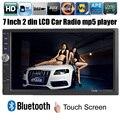 NOVO 7 ''polegadas LCD Touch screen mp5 player de rádio do carro DO BLUETOOTH HD 1080 P Suporte filme câmera de visão traseira 2 din áudio do carro em traço