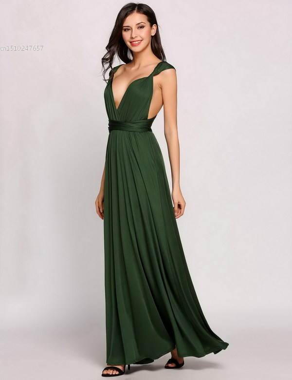 88032d497fed2 US $15.06  FANALA Women Summer Long Dress Sexy Bandage Sleeveless Party  Evneing Dress A Line Deep V Neck Solid Backless Maxi Dress M24 -in Dresses  ...