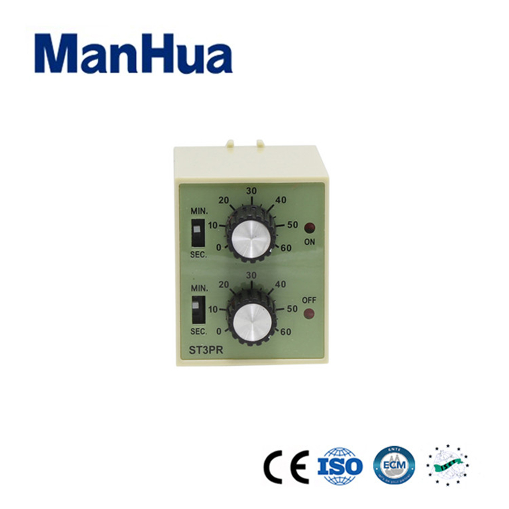 цена на ManHua AC 220V Electrical Time With CE ST3PR Electronic Counter With Socket Base Digital Timer Relay
