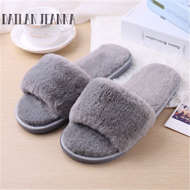 Fashion autumn and winter indoor home lovers cotton drag floor plush slippers female slip-resistant autumn and winter carton lovers slippers indoor cotton padded floor warm slippers plush for women slippers