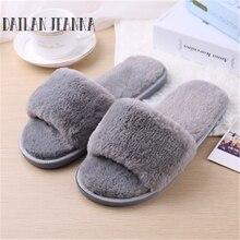 Модные демисезонные домашние тапочки из хлопчатобумажной ткани домашние тапочки из плюша дамская противоскользящая обувь