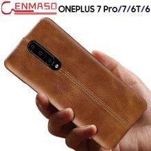 Oneplus 7 ケース本革バックカバー Oneplus 7 プロ 6 6T ファッションビジネス保護ケース 1 プラス 7 6 6T 高級