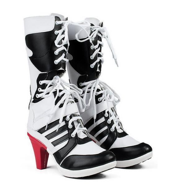 Nuevo Comando Suicida Batman Harley Quinn Cosplay Zapatos Botas de Anime de Alta Calidad Hechos A Medida