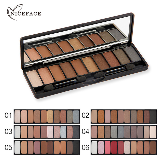 10 Colors Eye Makeup Eyeshadow Palette Kit Professional Pigment Nude Eyes Shadow Highlighter Powder Face Eye Brighten With Brush