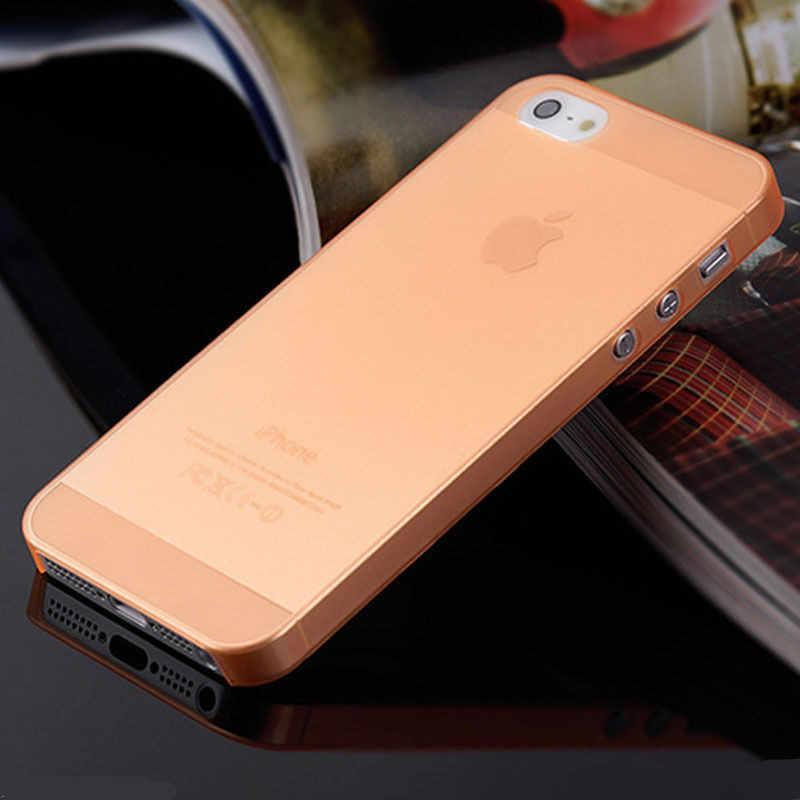 新スリム超薄型カラフルな半透明バックカバー電話ケースのための iphone 4 4S 5 5S 、 SE 5C 6 6S 7 8 プラス X XR XS 最大ケース