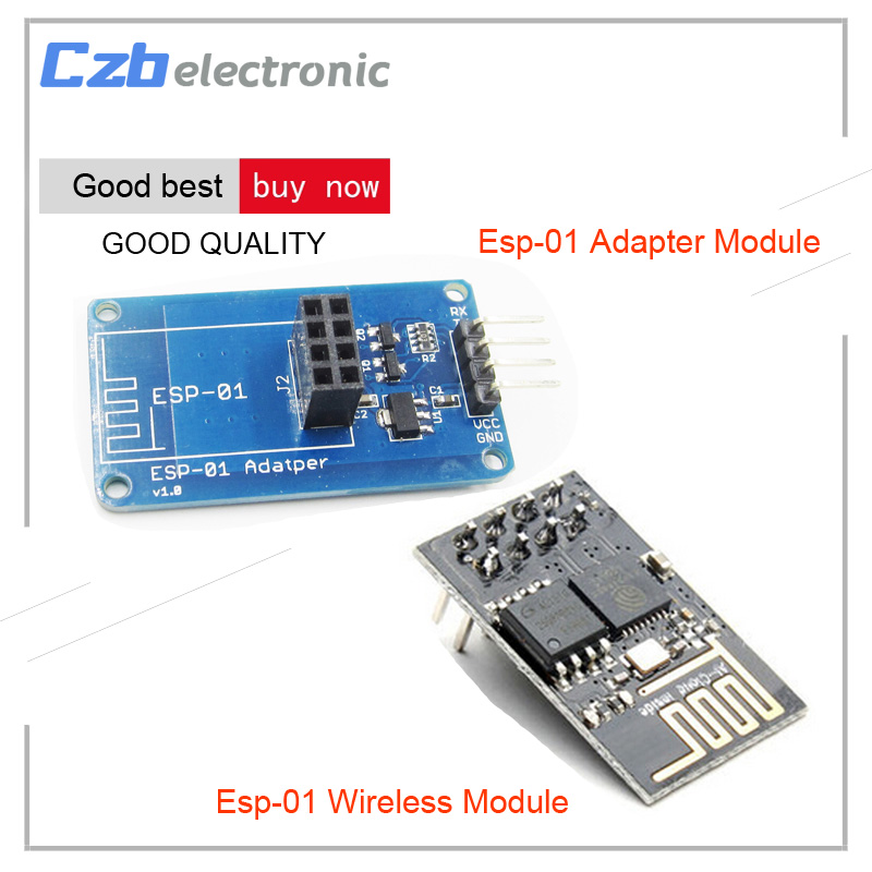 ESP8266 ESP-01 ESP01 Serial Wireless WIFI Module Transceiver Receiver Board  LWIP AP+STA with 3 3V 5V Breakout PCB Adapter