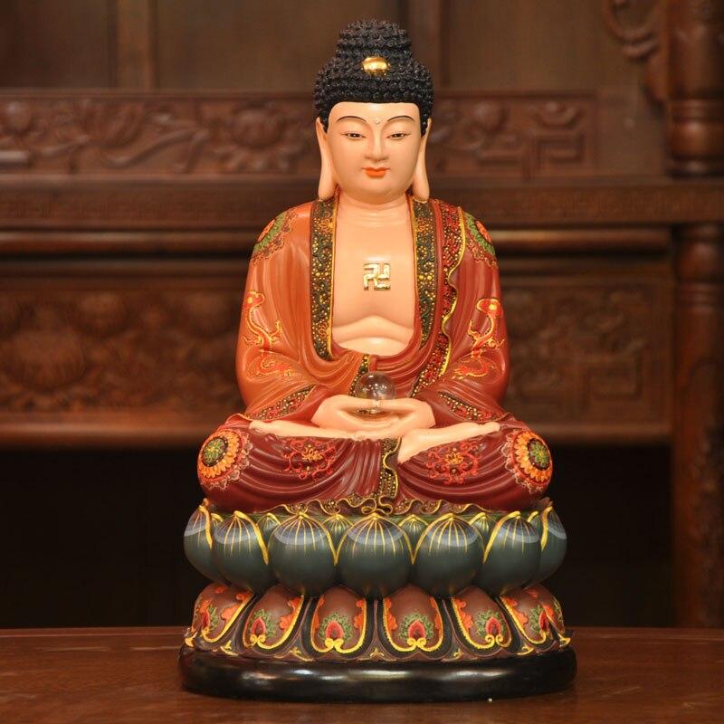 Top Existenace Sam Shing three saint Buddha statue Sakyamuni  ZD23