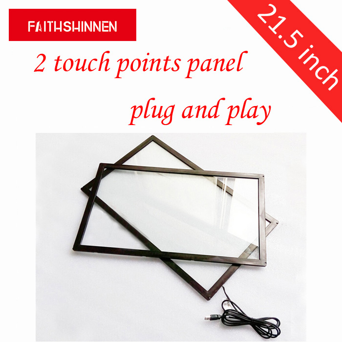 21.5 inch USB infrared IR 10 points multi touch screen frame panel with tempered touch overlay kit able for outdoor 65 inch usb infrared touch panel ir touch frame multi touch screen overlay kit for tv display with fast shipping