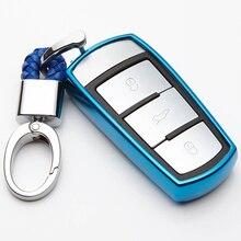 KUKAKEY Soft TPU Key Case Cover Protection For Volkswagen VW B8L B8 Passat CC Magotan A91 2015 2016 KeyChain Rings Key Holder цена и фото