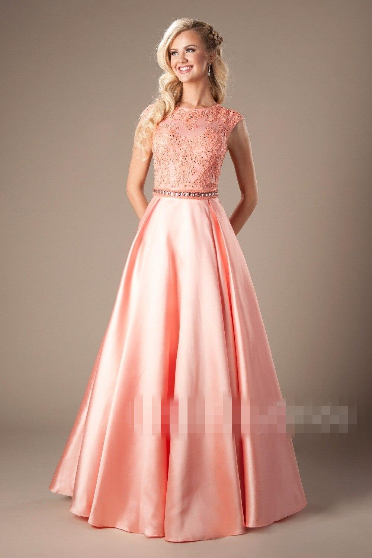 Hermosa Vestido De Novia De Encaje Modesto Colección de Imágenes ...