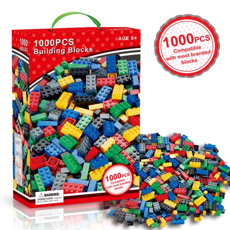 1000pcs Big Size Bricks Set City DIY Creative Bricks Toy Educational Building Block Brick Brinquedos Toys for Children Gift superwit 72pcs big size city diy creative building blocks brick compatible with duplo sets lepin educational toys children gifts