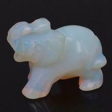 Opalite Elephant Carved Figurine Stone