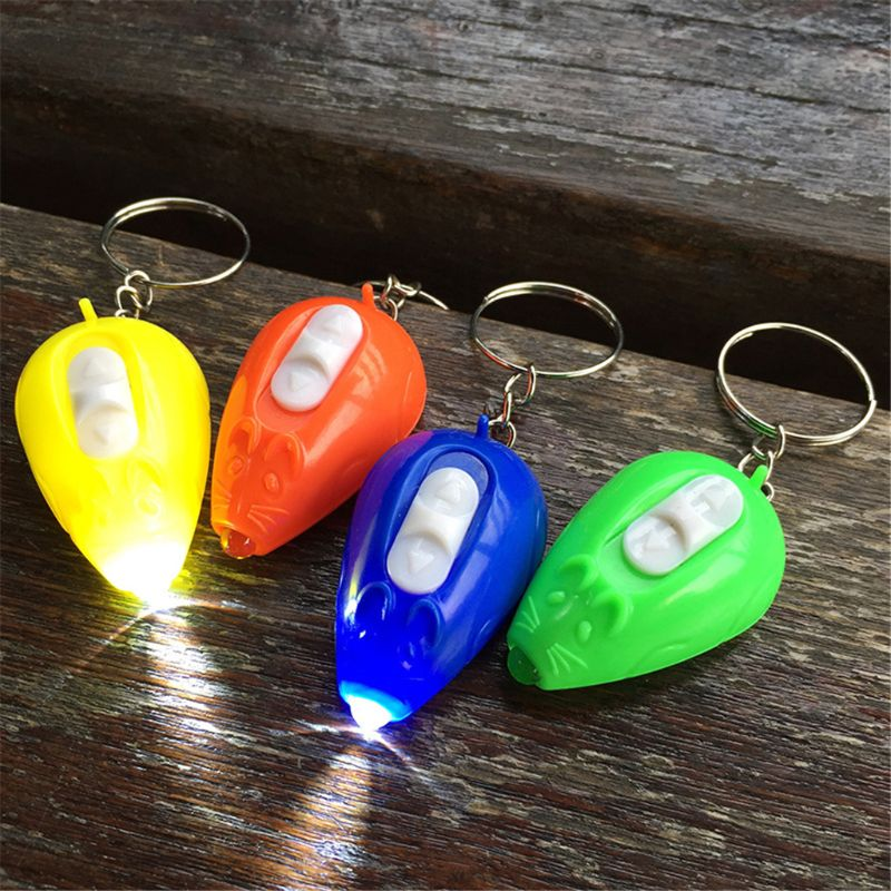 5pcs Mouse LED Light-Up Toys Colorful Keychain Kids Gift Gadgets Bag Pendant Luminous Toy