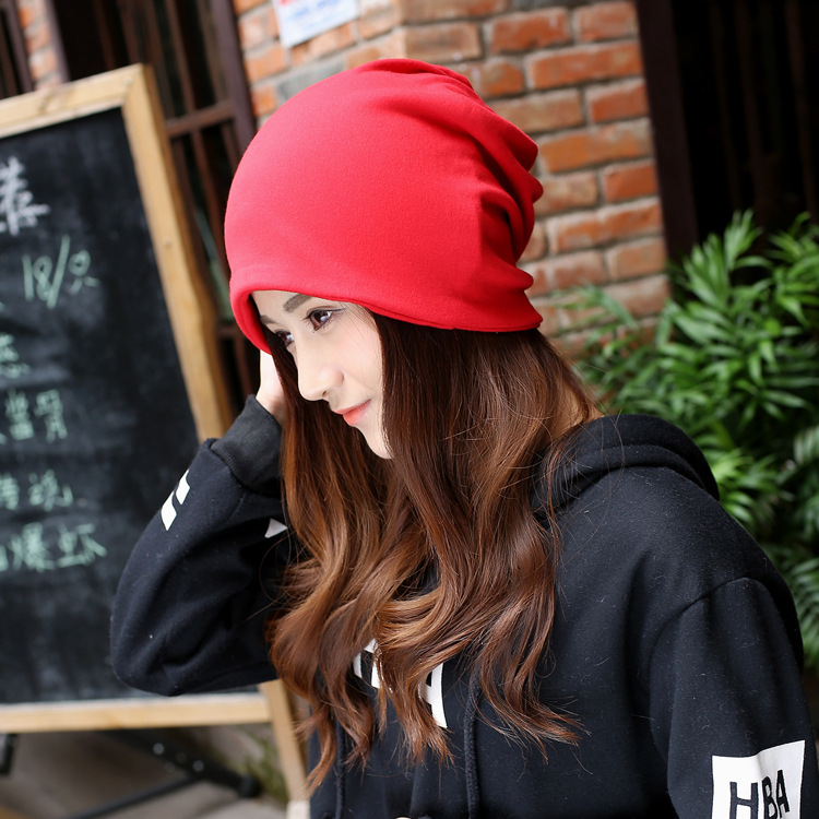 Hot Sales Women four seasons Fashion Casual Cotton Shulies Red Black Solid Coler Elegant Warm Female Hats