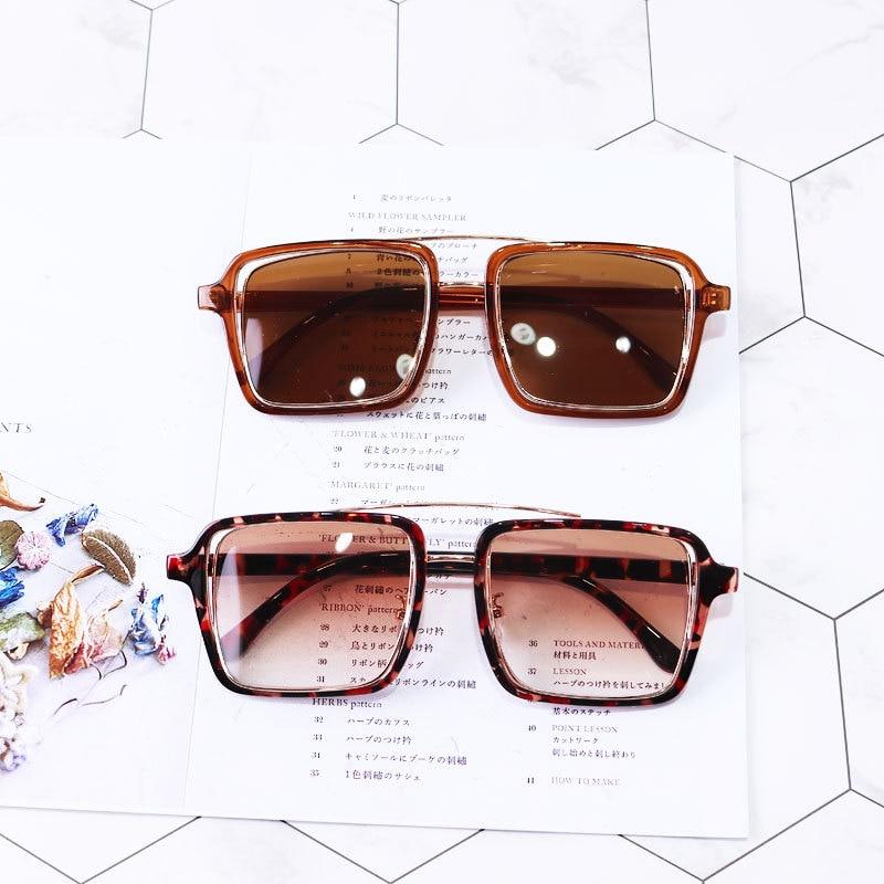Vierkant Frame 3-9 Jaar Oude Meisjes & Jongens Zomer Vierkante Zonnebril Goud Been Leuke Kind Zonnebril Merk Designer Kids Eyewears Fml