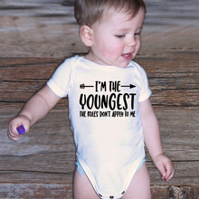 I'm The Youngest Cotton Baby Bodysuits Summer Baby Boys Clothes Newborn
