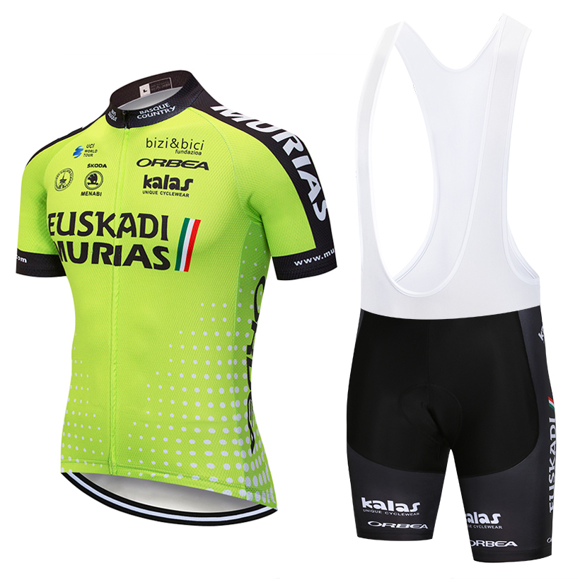 UCI team 2018 euskadi cycling jersey Bike shorts set MTB mens ropa ciclismo cycling wear summer BICYCLE Maillot Culotte цена