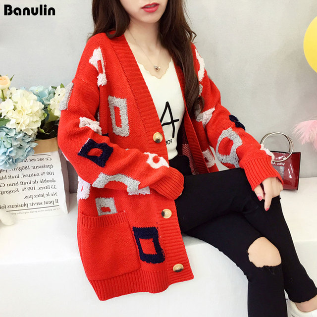 42311060a5fd Women Sweater Long Cardigan 2018 New Fashion Autumn Winter Long ...