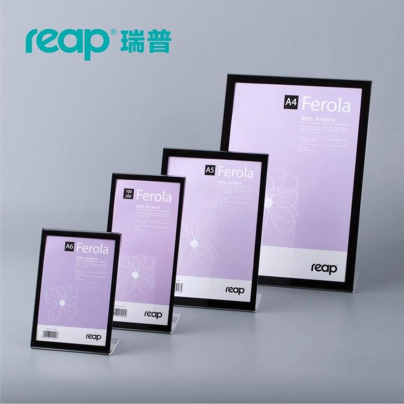 ᗐpack Reap Felora Acrylic Lshape Desk Sign Holder Card Display - Restaurant table sign holders