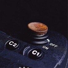 Botão de liberação do obturador macio de madeira com etiqueta para sony a9 a7m3 a7riii ILCE 7RM3 a7r mkii