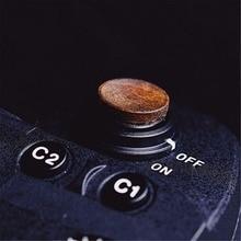 עץ עץ רך תריס שחרור כפתור עם מדבקה עבור Sony A9 A7m3 A7RIII ILCE 7RM3 A7R MKIII