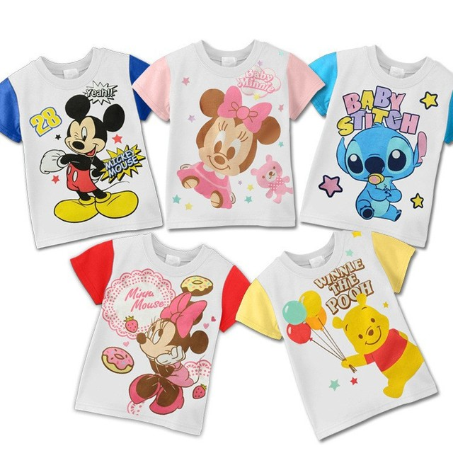 Wholesale 5 pcs/lot 2013 Fashion Baby Summer Tops Shirts,Minnie mouse Style kid cartoon t shirt,infant Short sleeve Baby Clothes