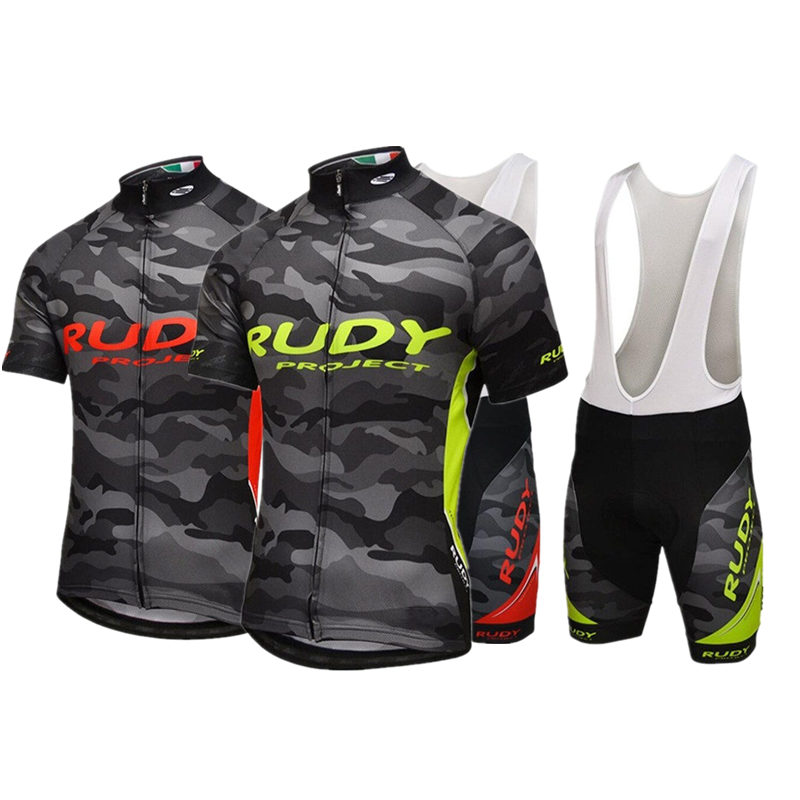 Rudy Pro Team Cycling Jersey Summer Ropa Ciclismo Sport MTB Bike Maillot Bicycle Wear BIB Shorts 3D GEL PAD Cycling Clothing 2017pro team lotto soudal 7pcs full set cycling jersey short sleeve quickdry bike clothing mtb ropa ciclismo bicycle maillot gel