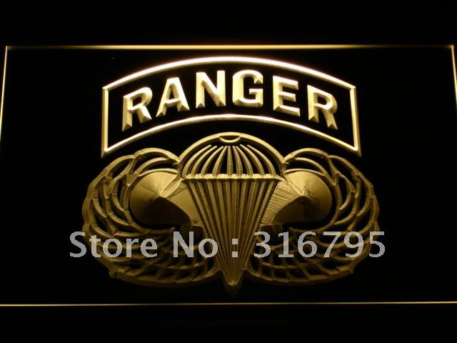 f143 US Army Ranger Parawings LED Neon Sign with On/Off Switch 20+ Colors 5 Sizes to choose