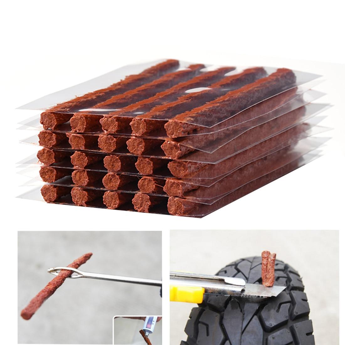 25 шт. без каблука шины Подключите прокол шины строки авто для ремонта шин резиновая прокладка 8,5 Экстра Длина Off- дороге автомобиль мотоцикл