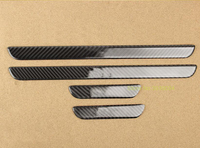 For Audi A3 2014 2018 Real Carbon Fiber 4PCS Slim Scuff Plate Door Sill Welcome Pedals Car Styling Accessories