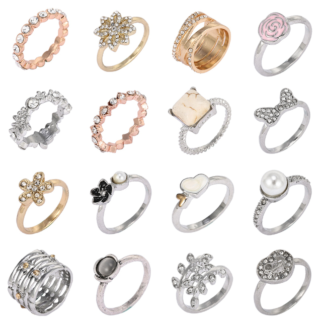 4eba7c622 CHIELOYS Fashion Personality Silver Plated Hearts Of Pandora Stackable Rings  Women Jewelry Factory Wholesale R043