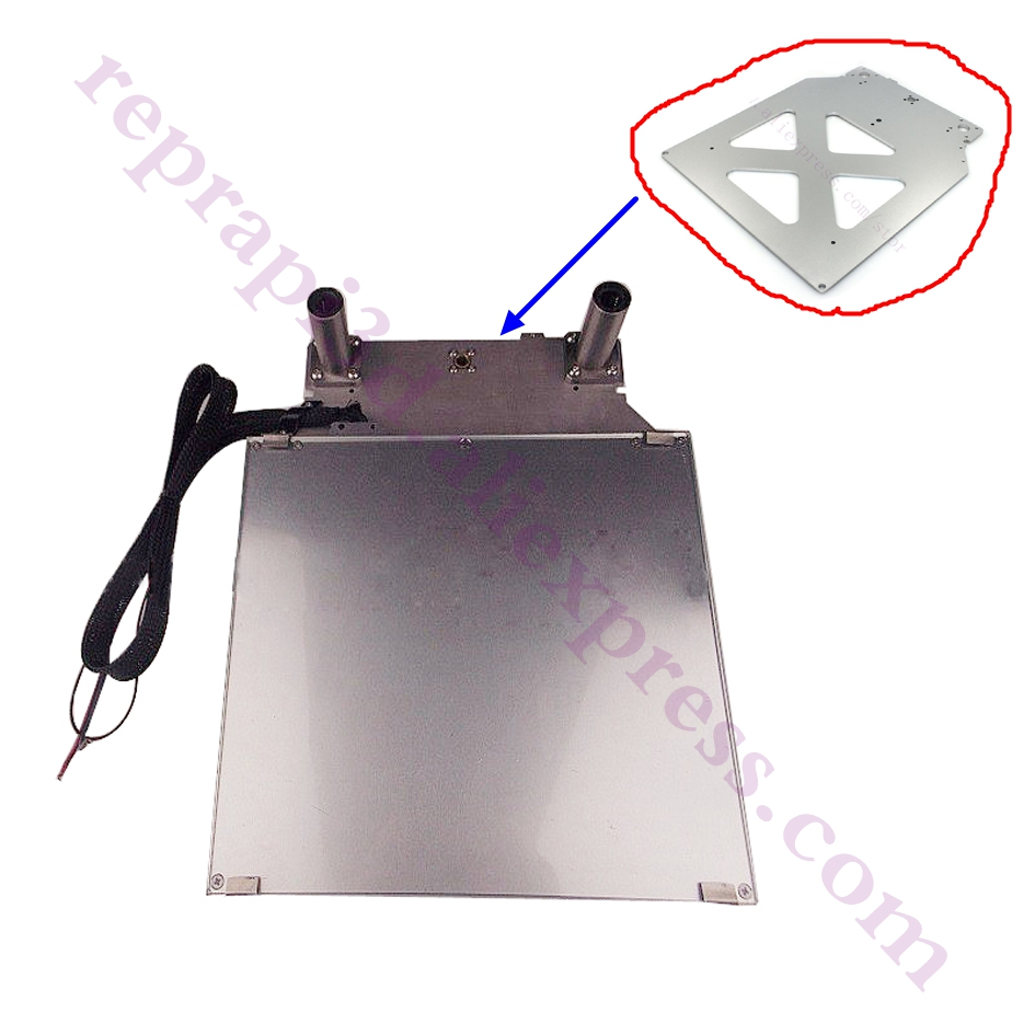 1set Ultimaker 2+ Extended 3D Printer Platform Kit Ultimaker2 Heated Bed Table Glass Aluminum Print Table Base Platform цены