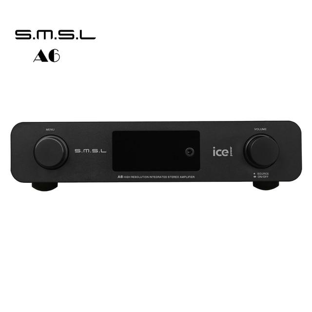 2016 SMSL A6 AK4452 50Wx2 HIFI Audio DSD512 Digital Decoder Amplifier OPTIC/Coaxial/XMOS/USB DAC 384KHZ/32Bit Aluminum Enclosure