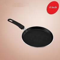 6 Inch Nonstick Black Cake Pan Pancake Flat Bottomed Pan Crepes Gas Cooker Pot