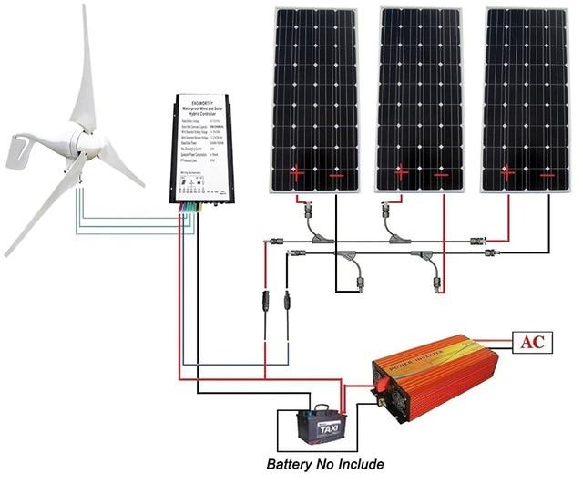 Aliexpress : Buy 880W Kit: 400W Wind Turbine & 3*160W
