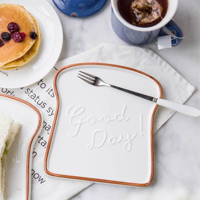 6 5 Inch Ceramic Breakfast Plate Bread Graffiti Border