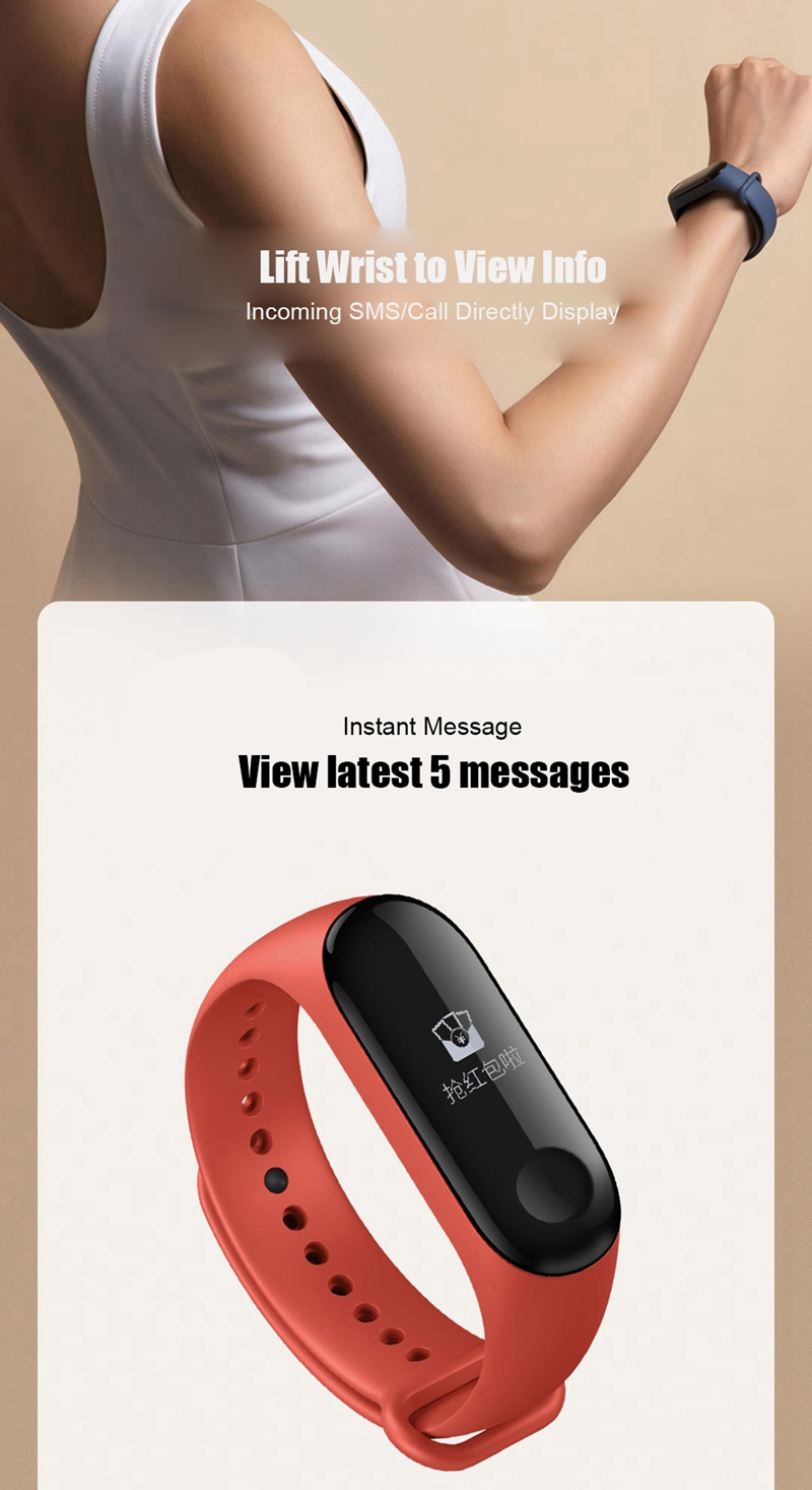 Newest Original Xiaomi Mi Band 3 Smart Band NFC Version Fitness Tracker Heart Rate Monitor 5ATM Waterproof Bluetooth Wristbands 23